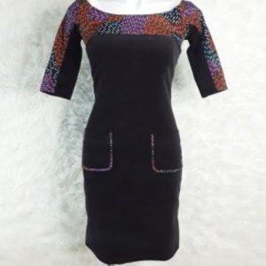 Zac Posen Dress Mini Corduroy Z Retro Brown Size 2